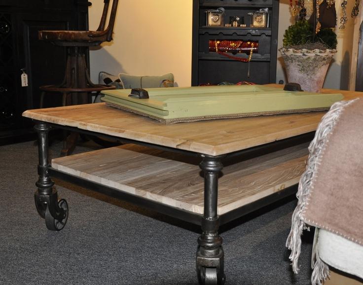 Industrial Coffee Table On Wheels Crafty Heart Pinterest