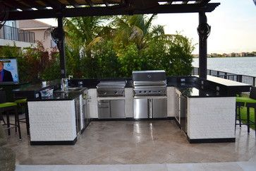 outdoor kitchens modern patio miami luxapatio
