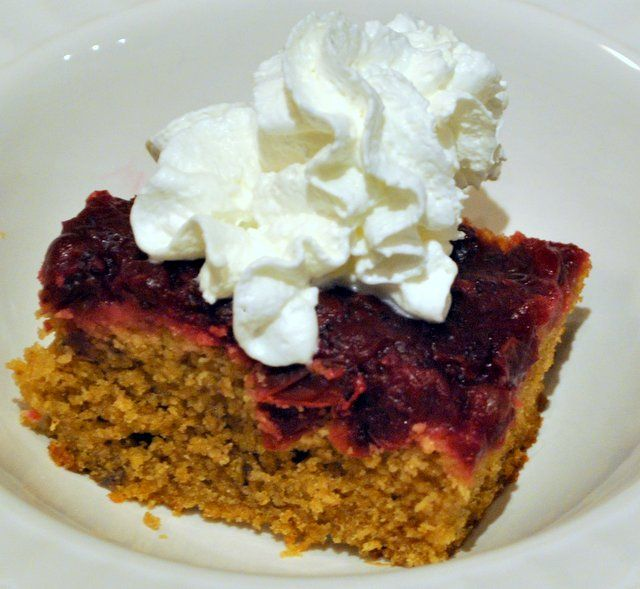 Nothing Goes to Waste Here – Cranberry Upside Down Cake   Recipe