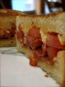 KitchenJoy: Garlic-Rubbed Grilled Cheese with Bacon & Tomatoes {a ...