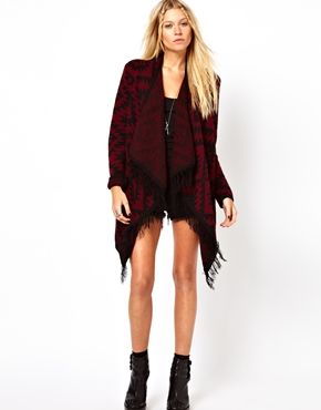 Blanket Cardigan With Fringe Detail 46