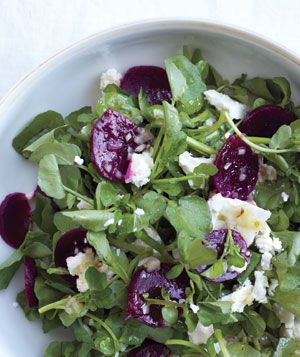 With walnuts (and caromilised onion) too. Salad with Beet, Feta, and ...