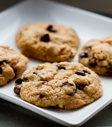 Chocolate Chip Walnut Cookies from Healthy. Happy. Life. A healthier ...