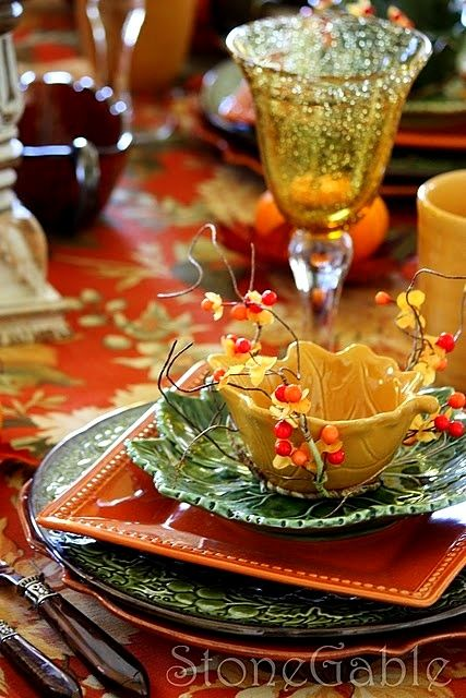 Ѽ Fall tablescape
