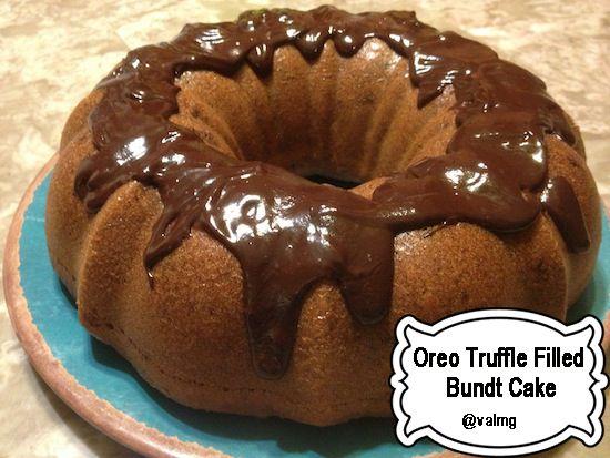 Easy Oreo Truffle Filled Bundt #Cake #Recipe #CookWithKohls