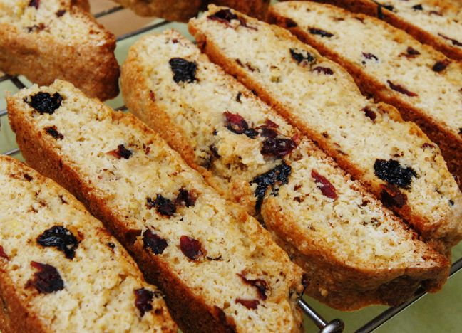 ... Days of Christmas: Biscotti with prunes, dried cherries and chocolate