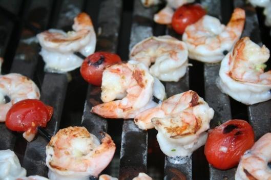 Lemon and Garlic Grilled Shrimp Skewers | Appetizers | Pinterest