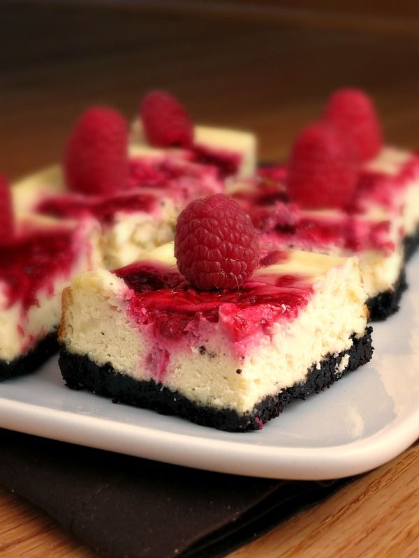 Raspberry swirl cheesecake bars sundaysupper alida s kitchen