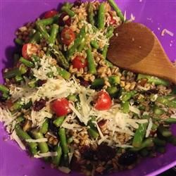 Farro Salad with Asparagus and Parmesan--although it's hard to pick ...