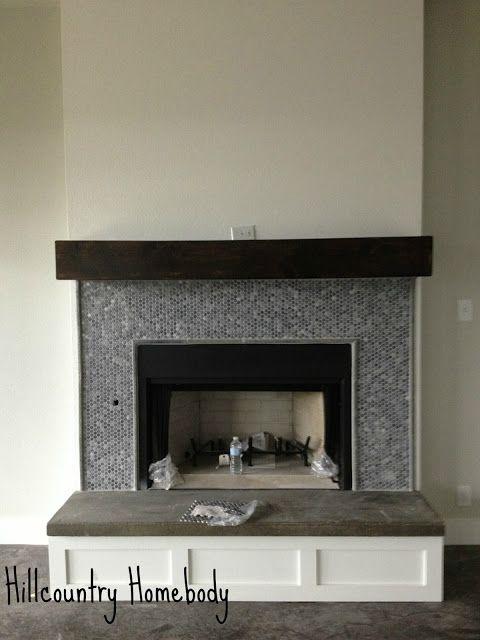 Concrete Hearth Fireplace Pinterest