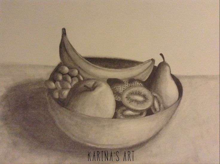 drawing lessons how to draw a fruit bowl