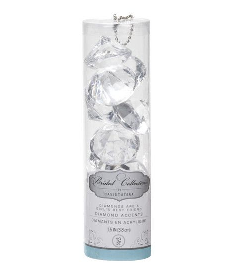 David Tutera Large Faceted Diamond Accents for Reception Tables $9.95