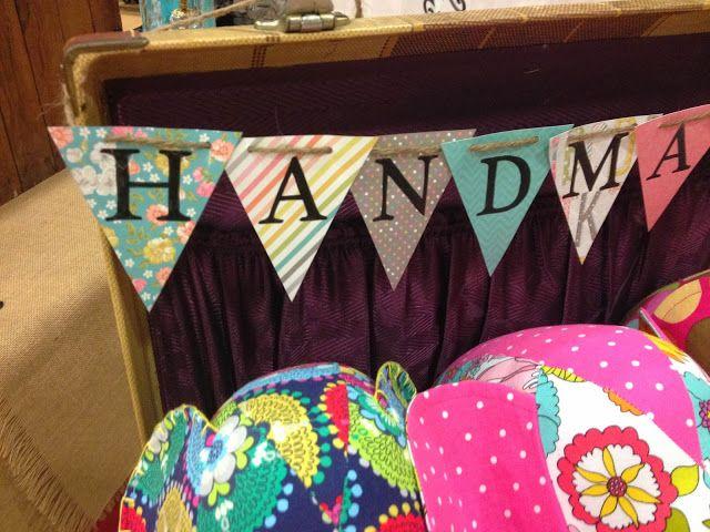 Need lots of handmade signs. Craft fair display ideas