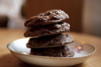 Salted Double Chocolate Peanut Butter Cookies   Recipe