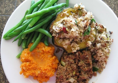 Acorn Squash with Wild Rice, Dried Cranberries and Pecan Stuffing | # ...
