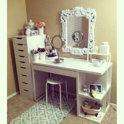 Fatima magpusao diy ikea makeup vanity diy pinterest for Cute makeup vanity