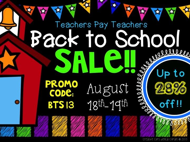 Teachers Pay Teachers Back To School Sale! Up to 28% off