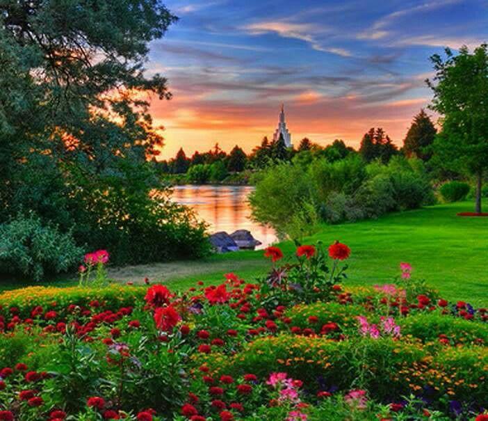 Beautiful Garden Sunset Beautiful Peaceful Gardens
