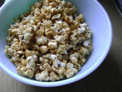 Spicy and sweet, this popcorn is quick and easy to make for game day.