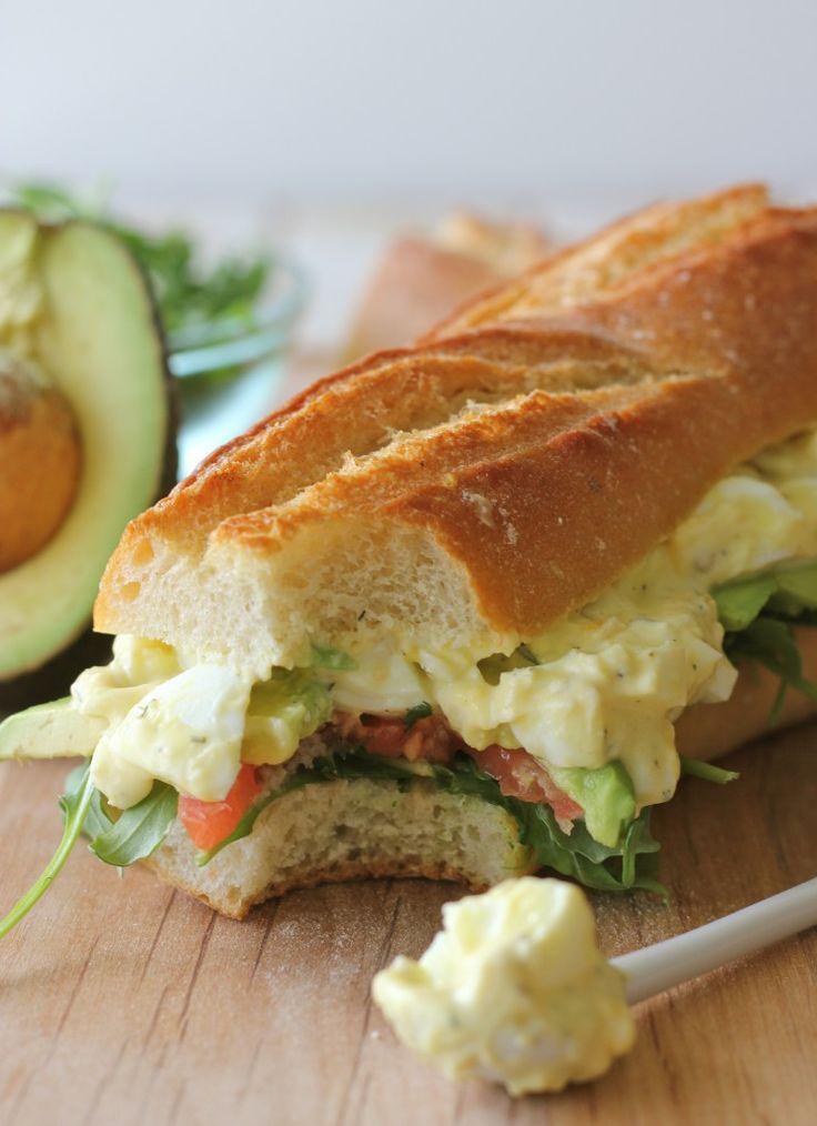 Greek Yogurt Egg Salad Sandwich - a healthy alternative way to make my ...
