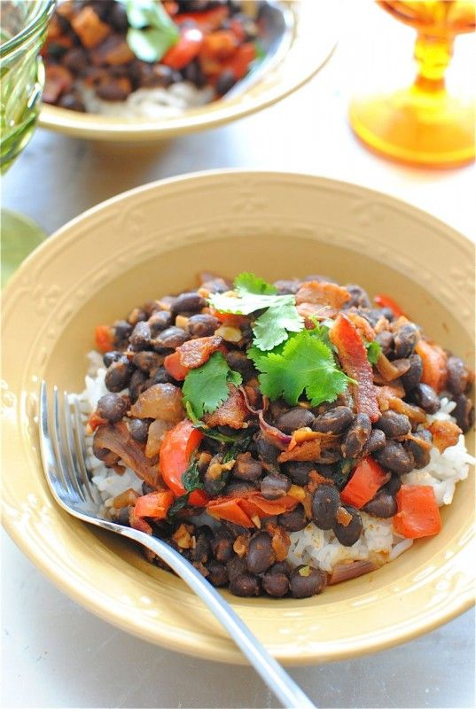 Simple black beans and rice | Food - Sides/Rice & Risotto | Pinterest