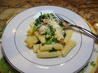 Rigatoni with Broccoli Rabe & Crumbled Sausage