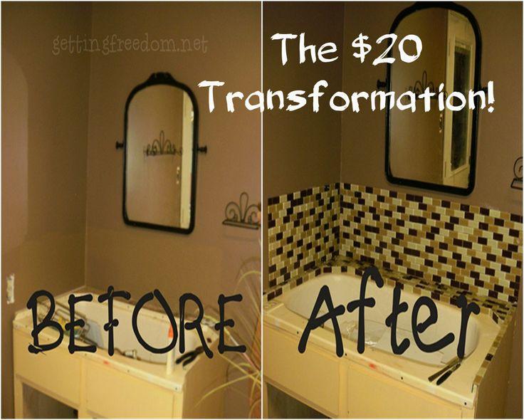 Backsplash Bathroom Redo 39 S Pinterest