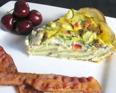 For the Love of Cooking » Veggie Quiche with Potato Crust