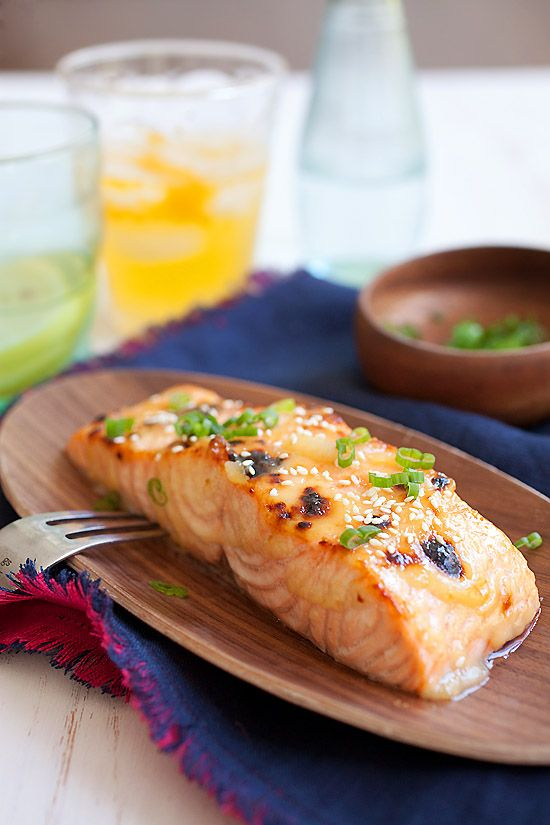 Miso-glazed salmon using a quick and easy 3-ingredient miso glaze.The ...