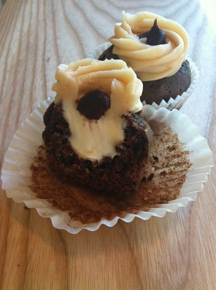 Mud Cupcake Chocolate chunk pecan cake, filled with marshmallow mousse ...