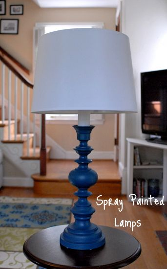 old lamps in my living room are going bye bye spray painted brass lamp. Black Bedroom Furniture Sets. Home Design Ideas
