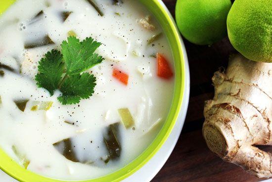 Coconut-Lime Chicken Tofu-Noodle Soup | Soup Recipes | Pinterest