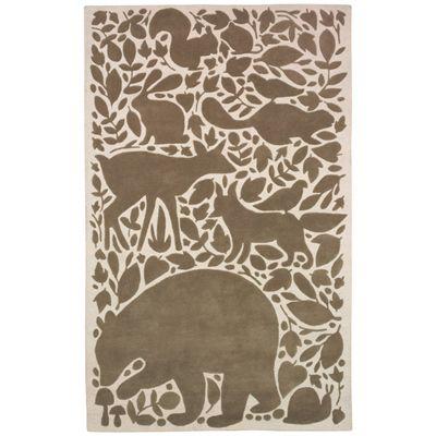 DwellStudio Kids Rug Woodland Tumble Chocolate from @LaylaGrayce #laylagrayce #rug