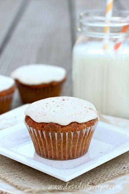 Carrot Cake Cupcakes with Browned Butter Cream Cheese Frosting | Reci ...