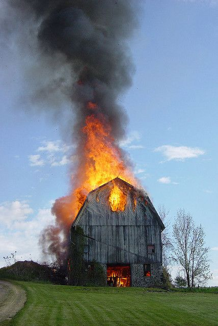 barn burning | Flickr - Photo Sharing!
