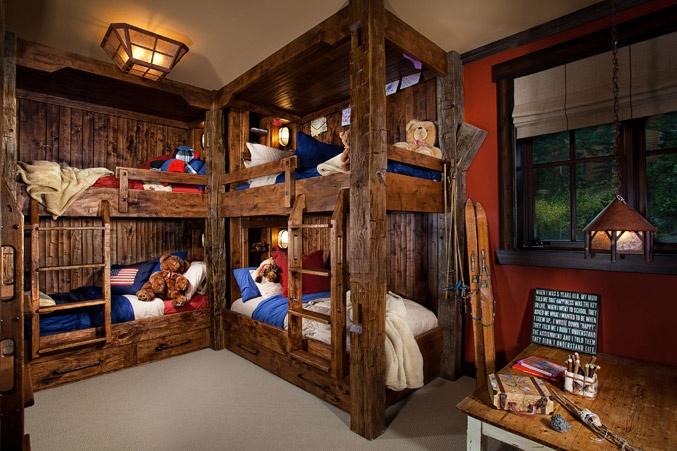 Rustic elegance diy bunks bedrooms pinterest for Rustic elegance interior design