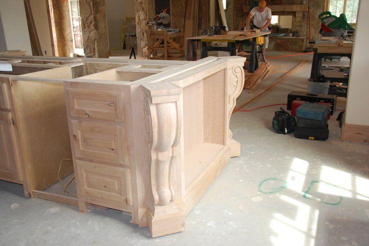 kitchen island corbels cabinets pinterest remodelaholic update a plain kitchen island or peninsula