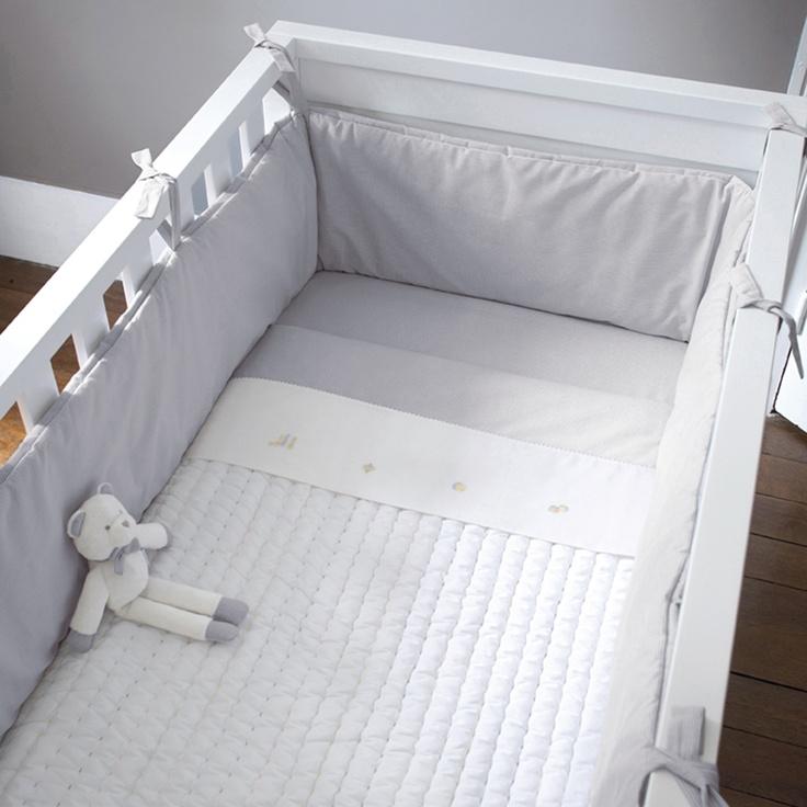 tour de lit entier 70x140 cm mixte gris blanc jacadi paris baby girl pinterest. Black Bedroom Furniture Sets. Home Design Ideas