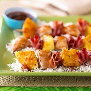 BBQ Chicken-Pineapple Kebabs