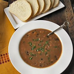 Three-bean smoked turkey soup. | South Beach diet | Pinterest