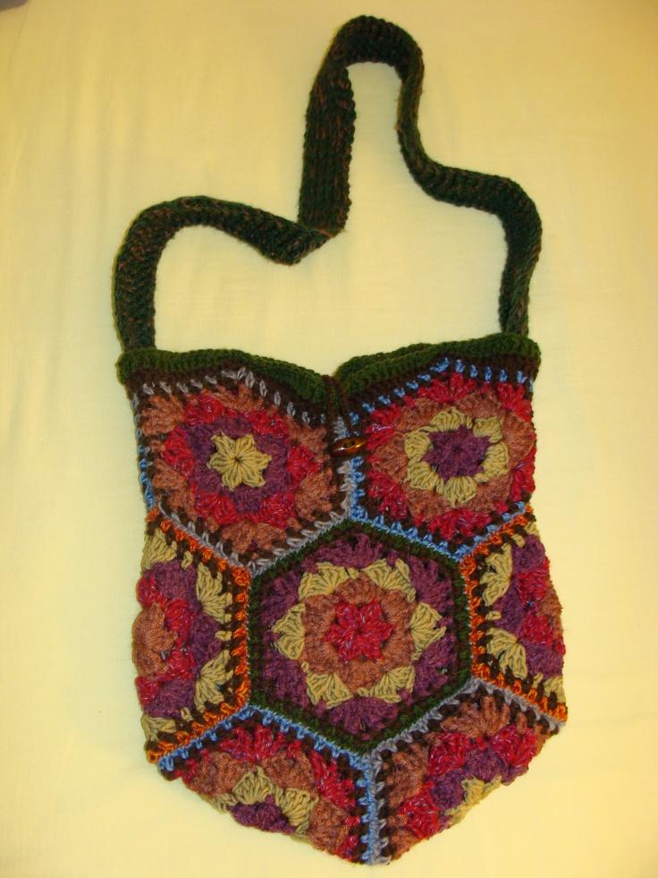 Crochet Hexagon Bag : Crocheted Bags
