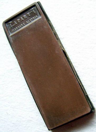 Barber Hone : Apart Austrian Barber Straight Razor Blade Hone Sharpener Red Whetsto ...