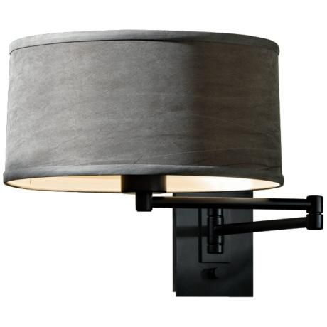 Swing Arm Wall Lamps For Bedroom : Black Simple Iron Swing Arm Wall Lamp