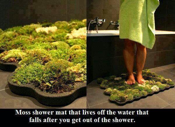 Diy moss bath mat daily diy pinterest for Make a moss bath mat