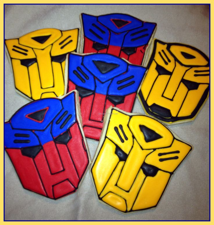 Transformer Cookies | ve never seen him more excited to see my cookies. The sleepless ...