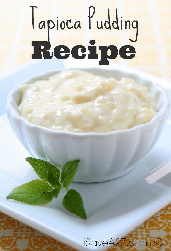 Tapioca Pudding Recipe - iSaveA2Z.com