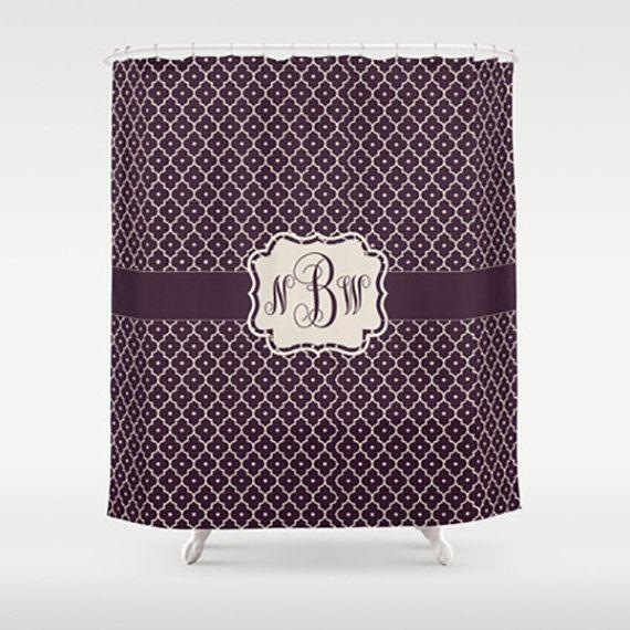 Wine Monogram - Personalized Shower Curtain - Monogram Shower Curtain ...