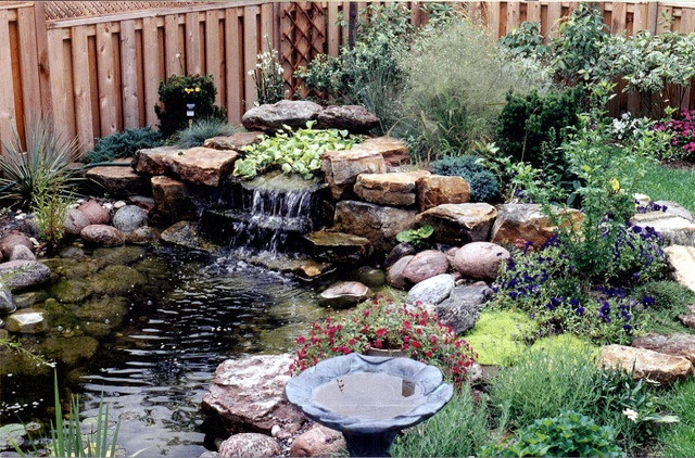 Waterfall and pond garden ideas pinterest for Garden pond waterfall ideas