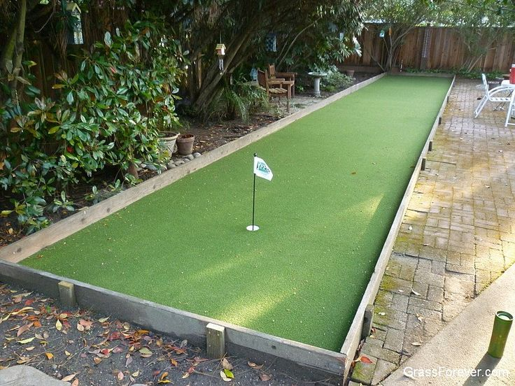 hybrid putting bocce ball court backyard spaces pinterest