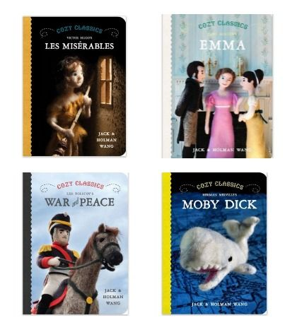 Classic books like War and Peace as baby board books